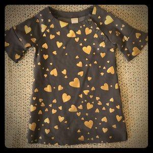Heart print Bell sleeved dress